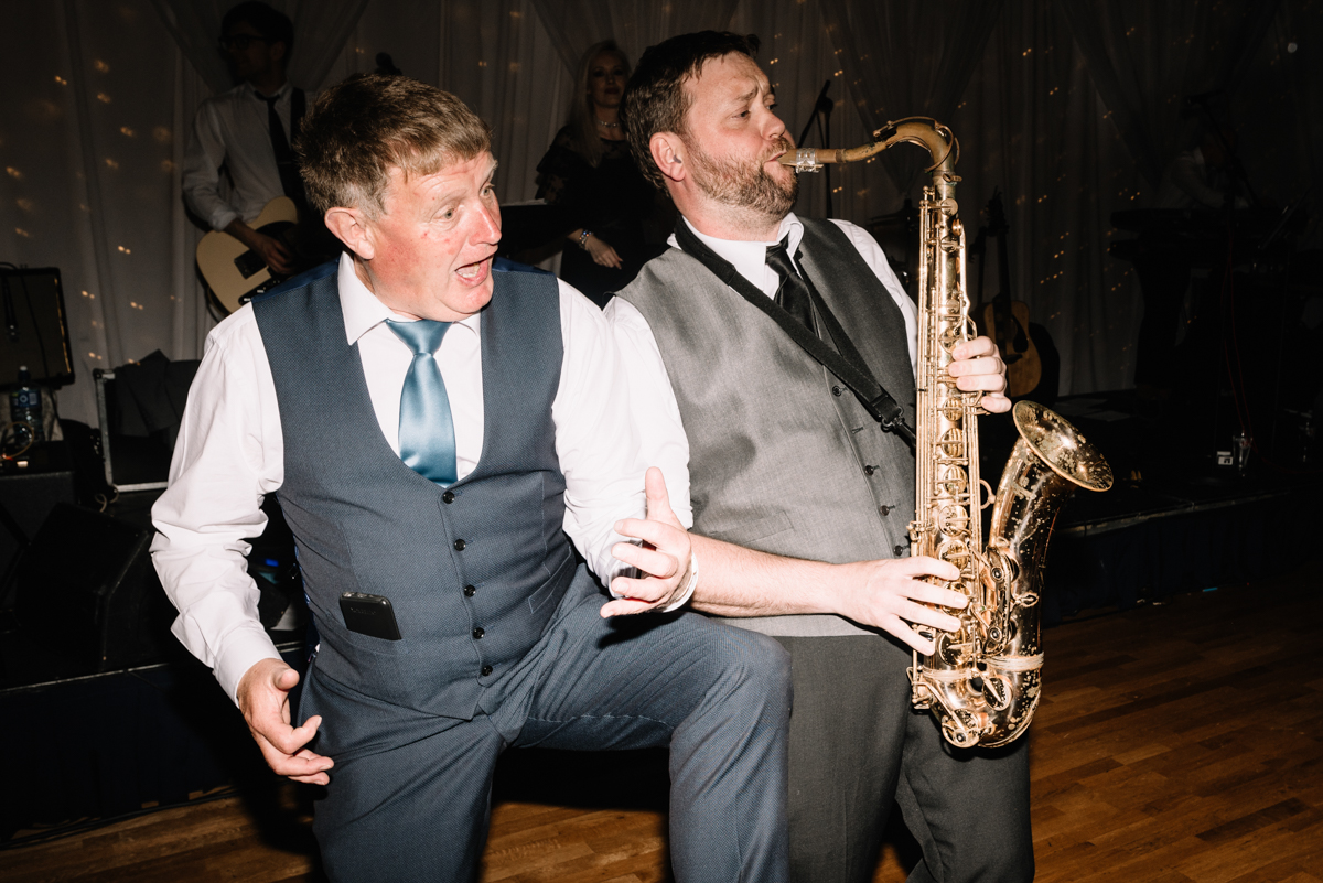 Wedding dj and sax player