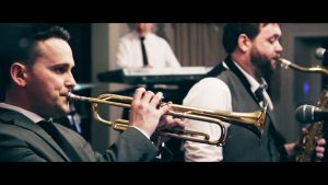 Brass section wedding bands